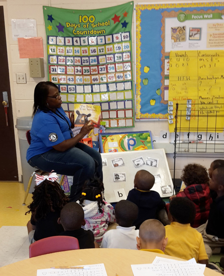 Amite County Elementary School students enjoy a reading of The Bear Ate Your Sandwich